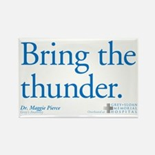 Bring the Thunder Rectangle Magnet