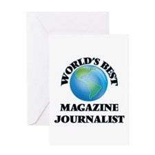 World's Best Magazine Journalist Greeting Cards