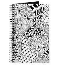 Original hand drawn Tangle Art Journal