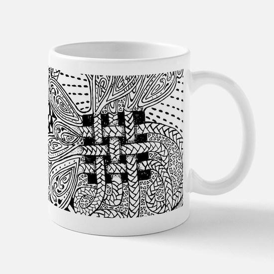 Original hand drawn Tangle Art Mugs