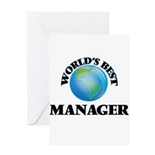 World's Best Manager Greeting Cards