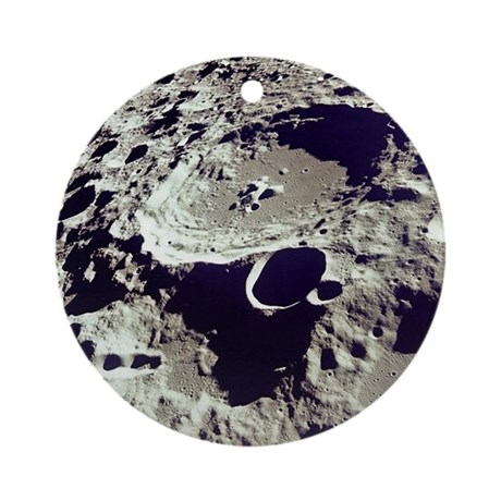 Far Side of Moon Astronomy Christmas Tree Ornament by ...