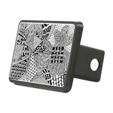 Original hand drawn Tangle Art Hitch Cover