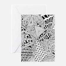 Original hand drawn Tangle Art Greeting Cards