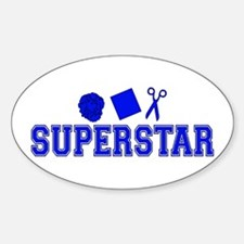 Rock Paper Scissors Superstar Oval Decal