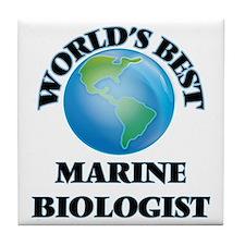 World's Best Marine Biologist Tile Coaster