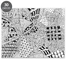 Original hand drawn Tangle Art Puzzle