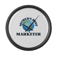 World's Best Marketer Large Wall Clock