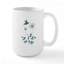 Hummingbird with flowers Mugs