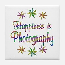 Happiness is Photography Tile Coaster