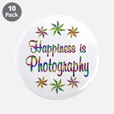 """Happiness is Photography 3.5"""" Button (10 pack)"""