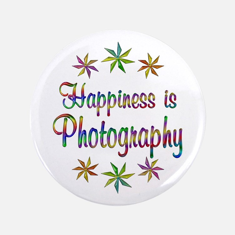 """Happiness is Photography 3.5"""" Button (100 pack)"""