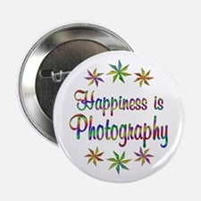 "Happiness is Photography 2.25"" Button (100 pack)"
