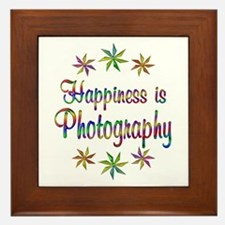 Happiness is Photography Framed Tile