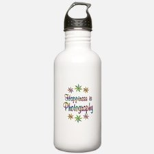 Happiness is Photograp Water Bottle