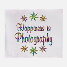 Happiness is Photography Throw Blanket