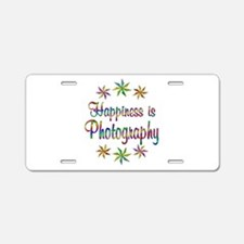 Happiness is Photography Aluminum License Plate