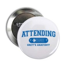 "Grey's Anatomy Attending 2.25"" Button"