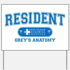 Grey's Anatomy Resident Yard Sign