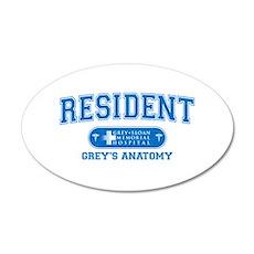 Grey's Anatomy Resident 38.5 x 24.5 Oval Wall Peel