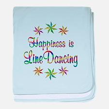 Happiness is Line Dancing baby blanket