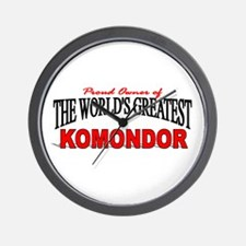 """The World's Greatest Komondor"" Wall Clock"