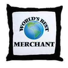 World's Best Merchant Throw Pillow