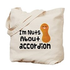 Nuts About Accordion Music Tote Bag