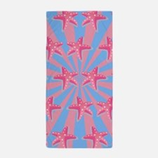 Girly pink starfish Beach Towel