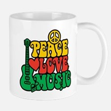 Reggae Peace Love Music Mugs