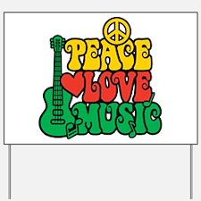 Reggae Peace Love Music Yard Sign
