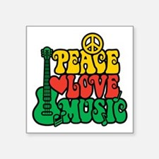 Reggae Peace Love Music Sticker