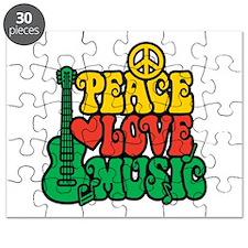 Reggae Peace Love Music Puzzle
