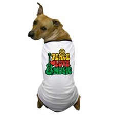 Reggae Peace Love Music Dog T-Shirt