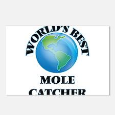 World's Best Mole Catcher Postcards (Package of 8)