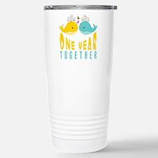 1st Anniversary Gift Fo Stainless Steel Travel Mug