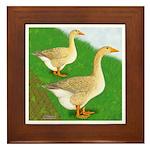 Goose and Gander Framed Tile