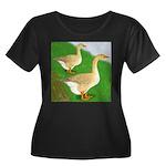 Goose and Gander Women's Plus Size Scoop Neck Dark