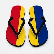 Romanian Flag Flip Flops