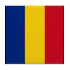 Romanian Flag Tile Coaster