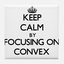 Keep Calm by focusing on Convex Tile Coaster