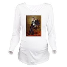 Obama - French Bulld Long Sleeve Maternity T-Shirt