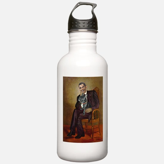 Obama - French Bulldog Water Bottle
