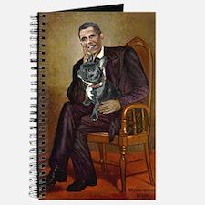 Obama - French Bulldog (BW-RedC) Journal
