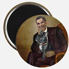 Obama - French Bulldog (BW-RedC) Magnet