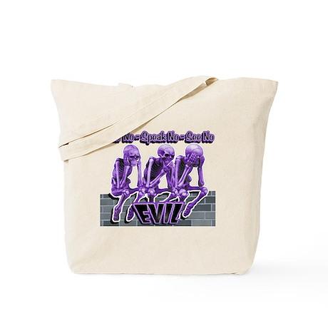 See-Speak-Hear-No EVIL Purple Tote Bag
