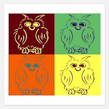 Pop art owl Invitations