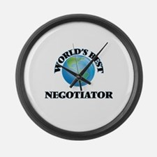 World's Best Negotiator Large Wall Clock