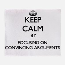Keep Calm by focusing on Convincing Throw Blanket