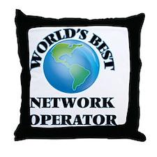 World's Best Network Operator Throw Pillow